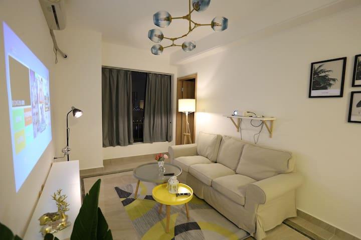 广州南站北欧简约两居公寓宜家风格免费接送