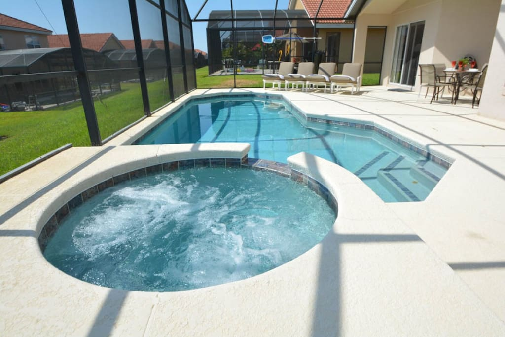 Jacuzzi, Tub, Pool, Water, Patio