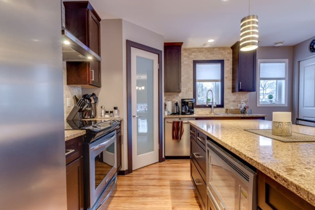 Access to high end appliances.