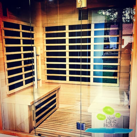 After a long day, refresh your self in an infrared sauna.