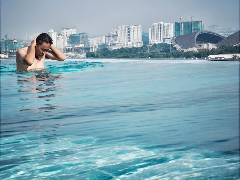 A place for retreat, infinity pool that you can use