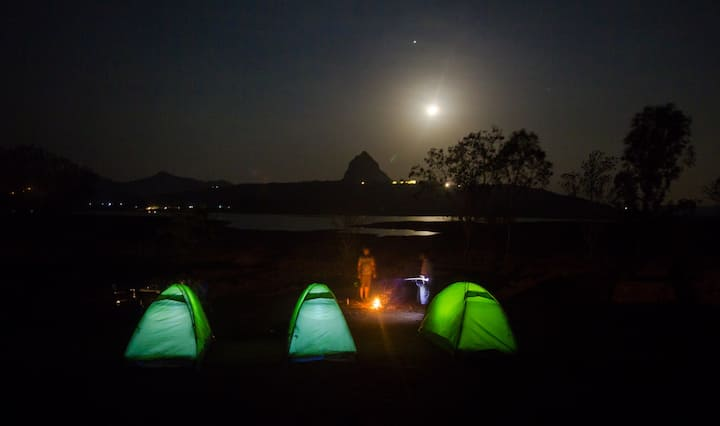 Lake Front Camping, Pawna | Private tents.