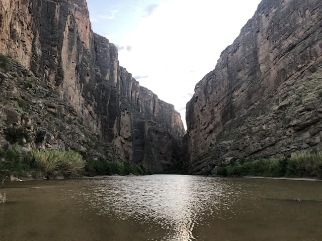 Santa Elena Canyon is one of the most strikingly beautiful places in the country, with 1,500 foot sheer walls going straight up from the Rio Grande. You can drive right up to the mouth of the canyon and take a short walk inside. The entrance to Big Bend National Park is a gorgeous 25 Mile drive from the property.