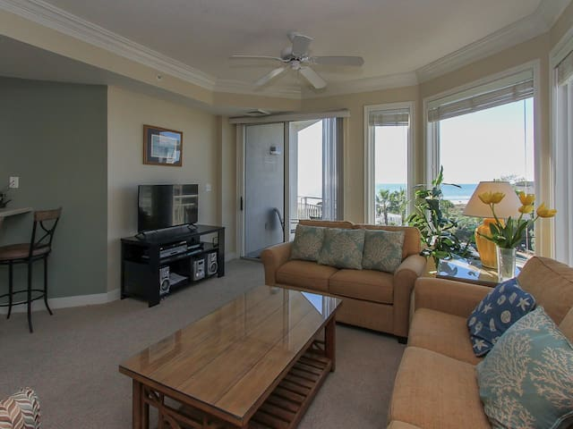 Living Room with Ocean Views at 2406 Sea Crest