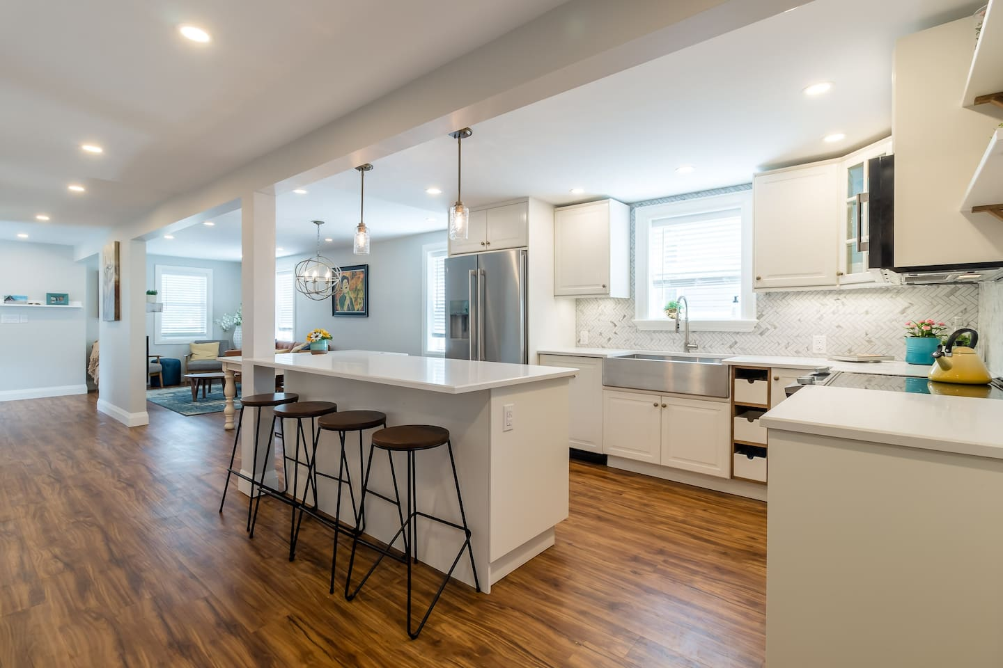 open concept renovated space!