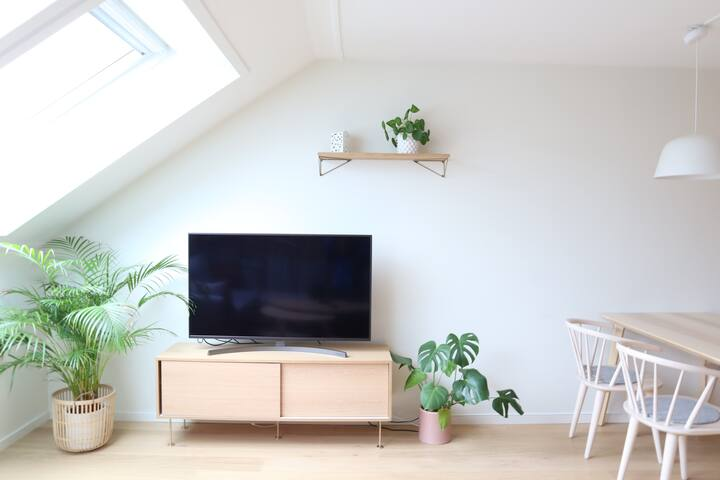 Calm apartment, top floor - 15 min to city center