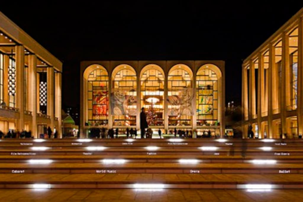 Close to Lincoln center, Ballet and Opera shows all year around