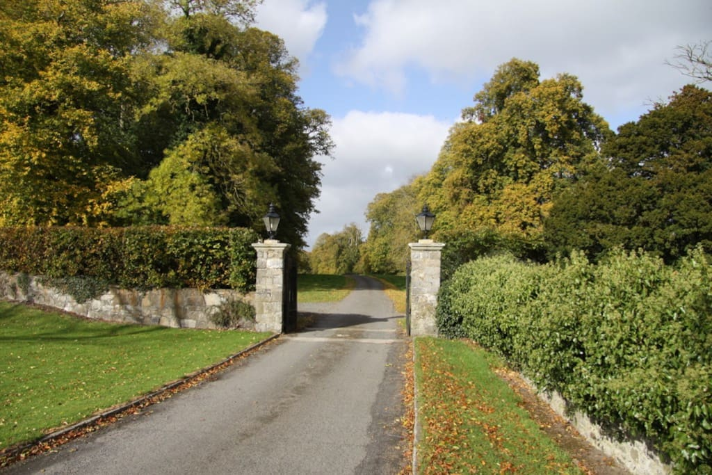 The entrance to Moyglare House, Maynooth