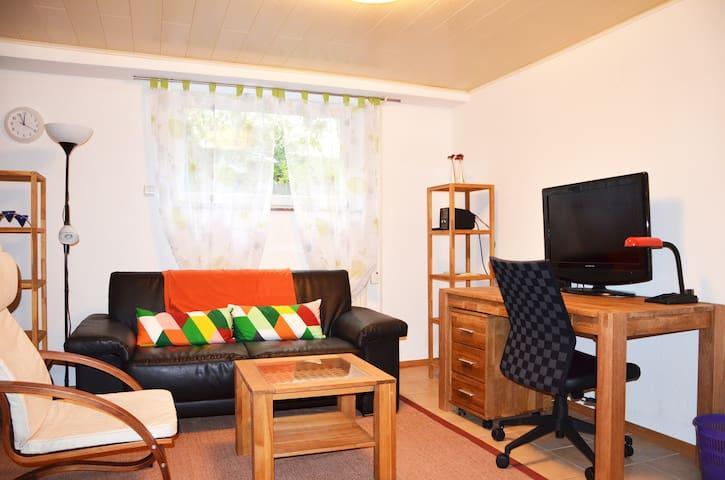 2-Zimmerwohnung, komplett ausgestattet, an der A45 - Wölfersheim