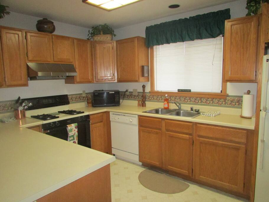 perfect kitchen with lots of counter space and everything you need.