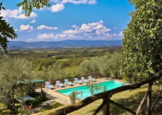Ancient stone farmhouse with pool and loggia - Borgo San Lorenzo - 別墅