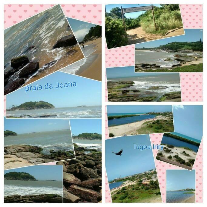 Praias próximas à casa, cerca de 2 minutos a pé à Lagoa do Iriry e 10 minutos de distância da praia da Joana, de carro