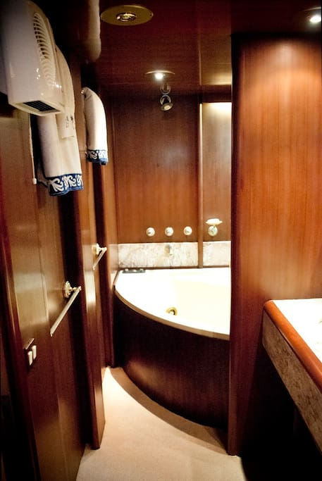 Bathroom includes a Jacuzzi!