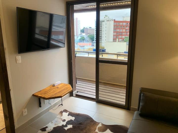 Apartamento 41 Visconde com sacada visual moderno