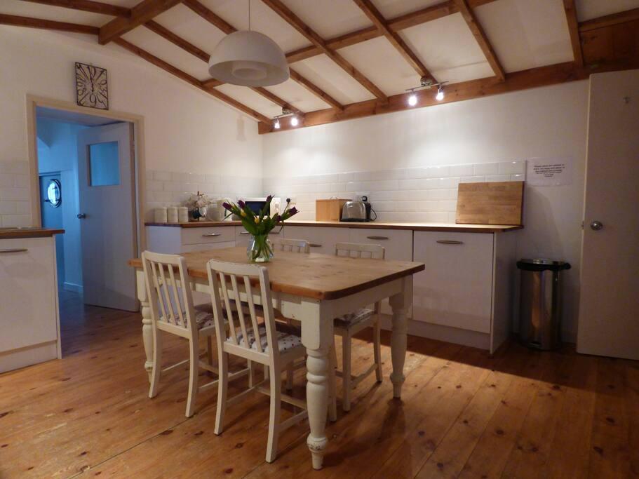 Spacious farmhouse style kitchen