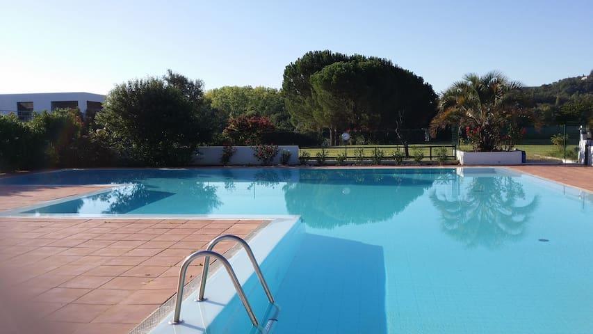 App climatisé jardin piscine 6p - Ruoms - Apartamento