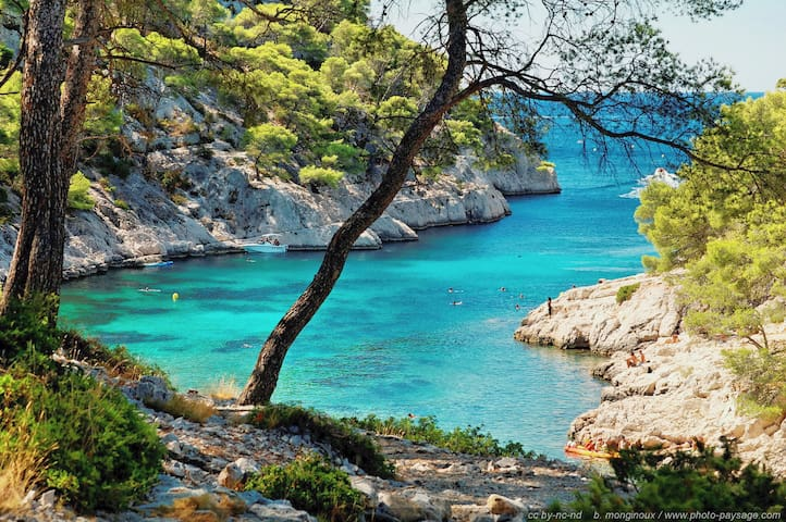 Beaches/Calanques in Marseille, Quiet House- WIFI