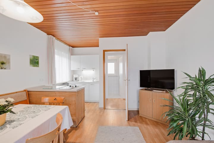 Cosy Apartment at Lake Chiemsee with South-Facing Balcony, Mountain View & Wi-Fi; Parking Available