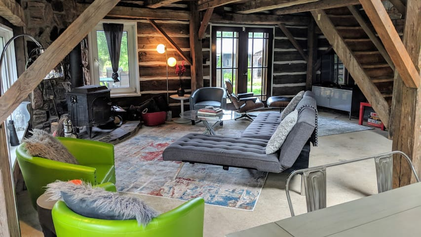 A charming, rustic 140 year old Carriage house