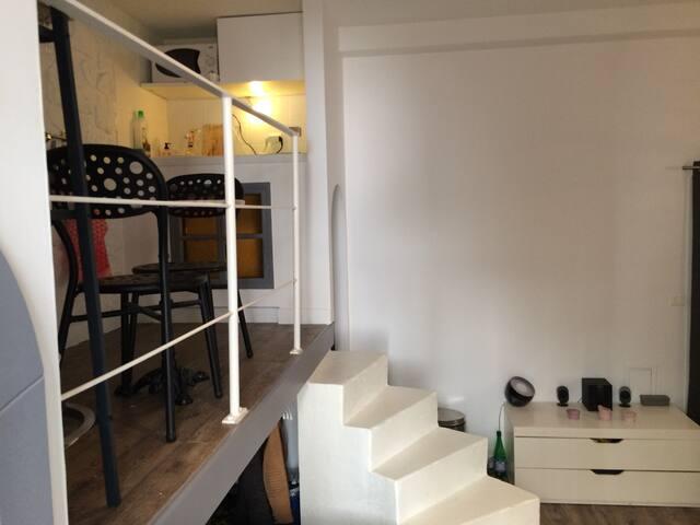 Lovely flat - Joli studio atypique Marais Bastille