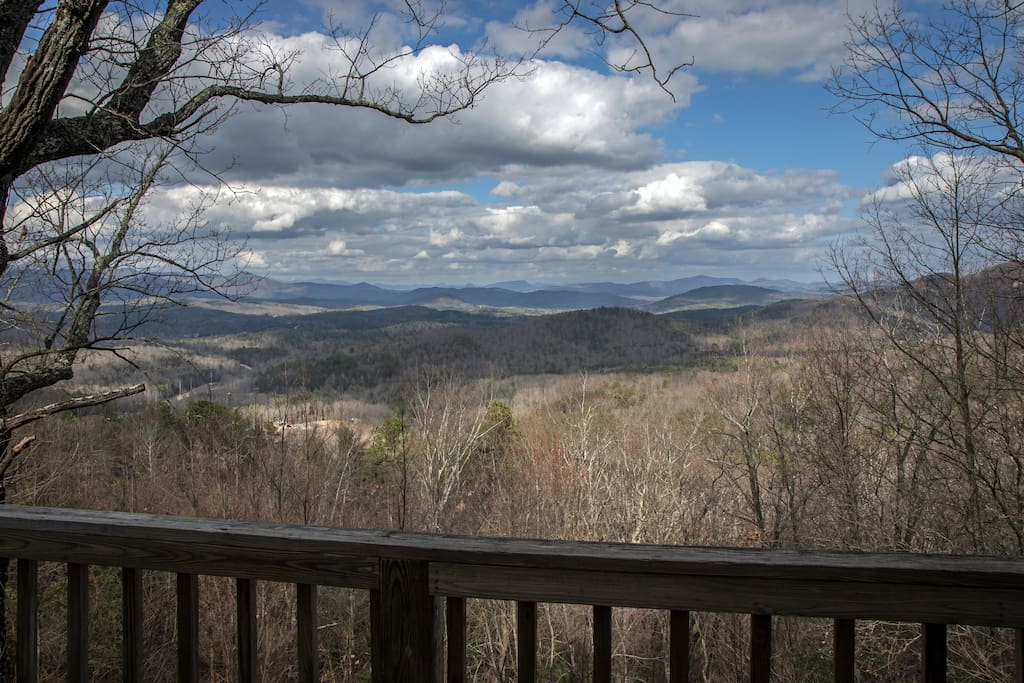 Probably the best view from any cabin in the North Georgia Mountains