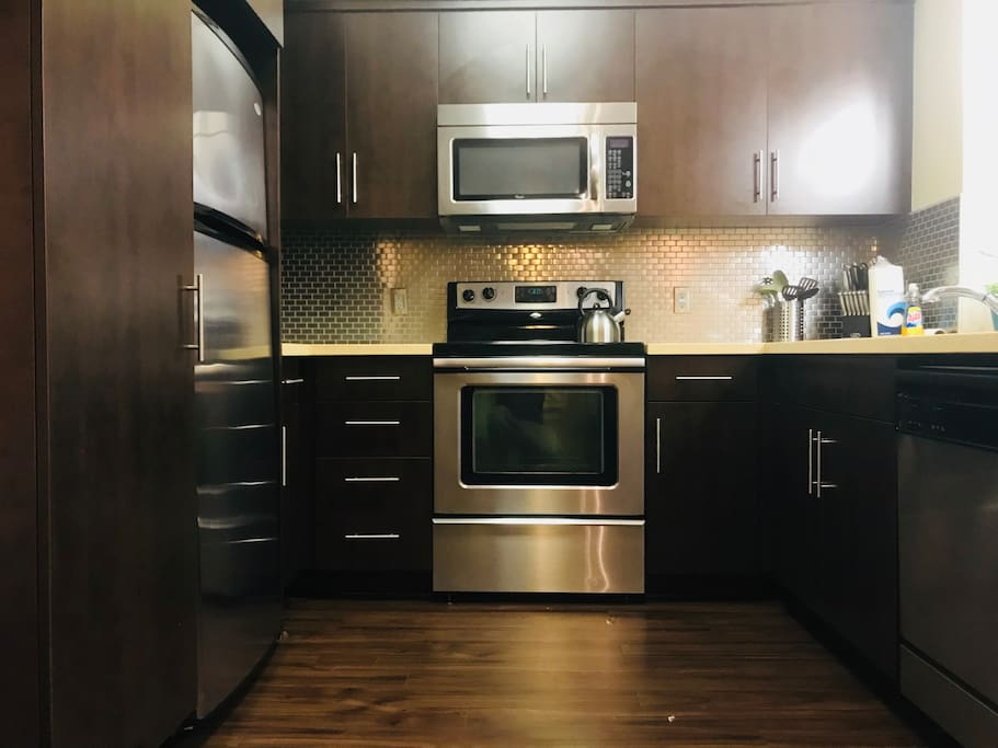 Fully equipped kitchen to make home made meals and fridge to keep perishable items