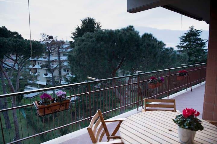 luxury terrace apartment in Rome