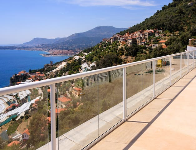 Panoramic penthouse over sea bay near Monte Carlo - Grimaldi - Lägenhet