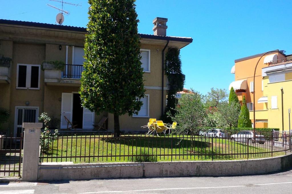 Vista della casa