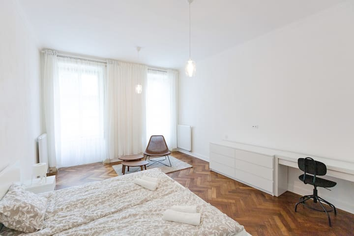 Lovely Room in Refurbished Historic Apartment