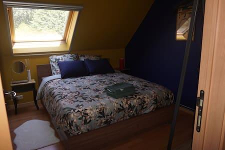 Cosy bedroom in quite neighbourhood and with sauna