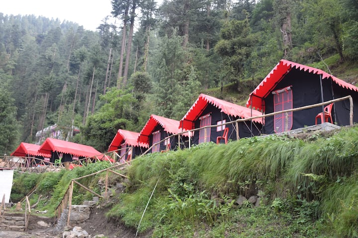 A luxury cmaping by river side