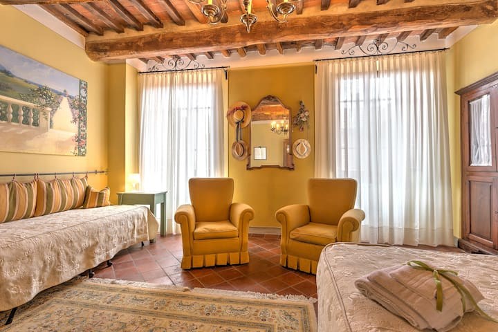 large room in the medieval village Montecarlo
