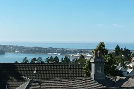 close to town, bright & amazing views! - Dunedin - Apartment
