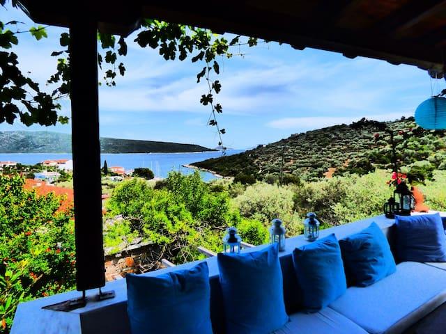 Amazing sea-view villa house - Στενή Βάλα - Villa