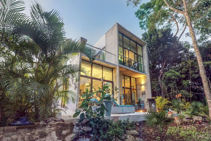 Beautiful home with a private pool and views of the onsite golf course