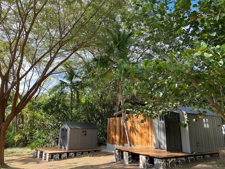 Mangrove bungalows at the beach