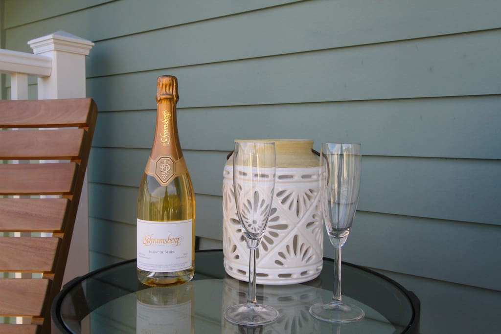 Many wineries close by, pick up a bottle and enjoy your deck.