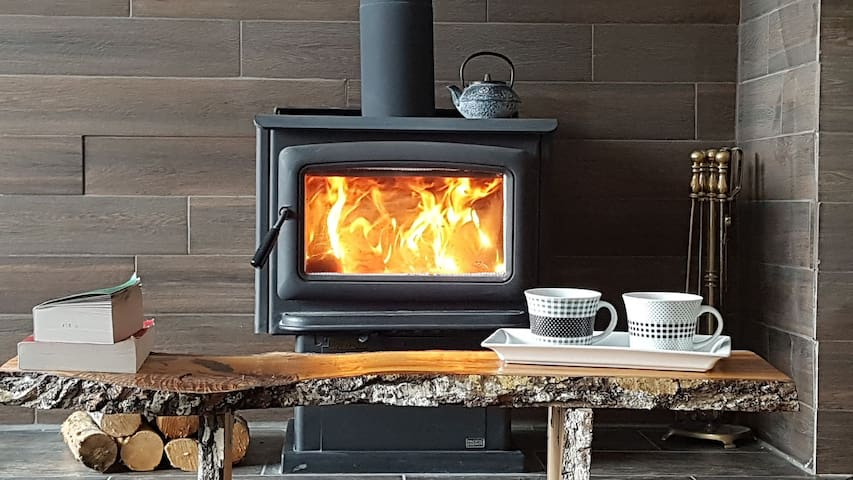 Enjoy some time by the warm fire in the evenings.  From September to April.