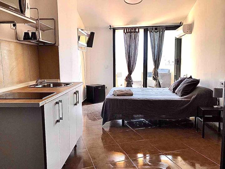 Gran Ático con baño, cocina y terraza privada A3