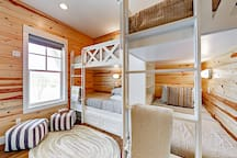 A fun spot for the kids, the 3rd bedroom has two sets of twin-over-twin bunk beds.