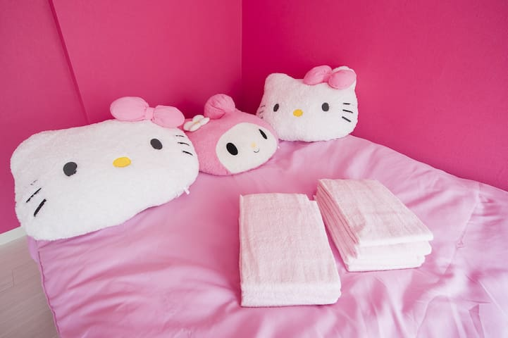 Close to Tennoji/Namba free wifi! Kitty room!AS146