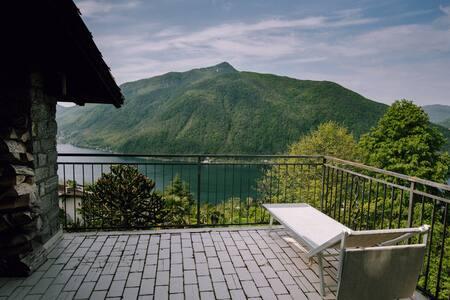 Villa Nirvana overseeing Lugano lake