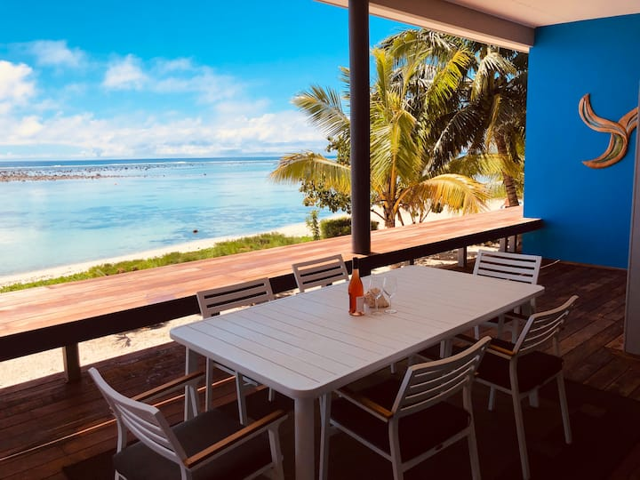Beachfront Bliss! 2 Bed Panama Apartment Rarotonga