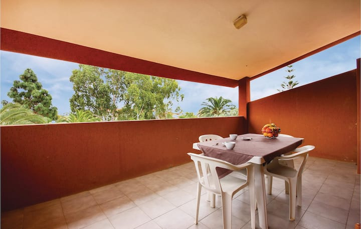 Amazing home in Costa Rei -CA- with 1 Bedrooms