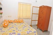 Private A/C room + calm terrace with sea view