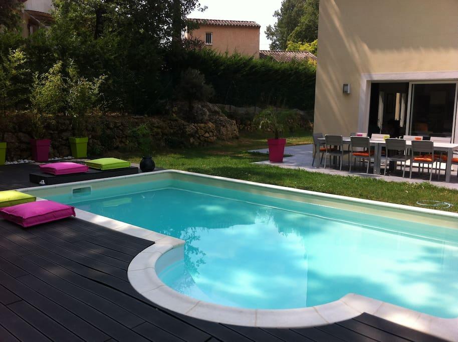 maison calme avec piscine priv valbonne village houses