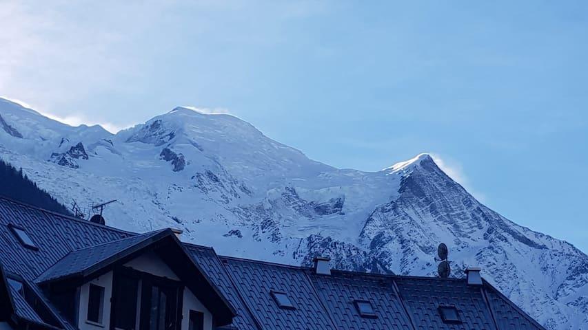 Studio vue imprenable sur Mont Blanc cœur de ville