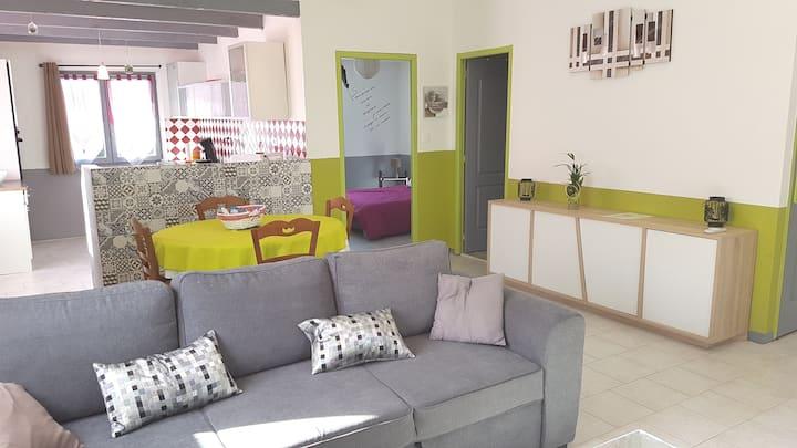 Appart agréable et confortable et spacieux