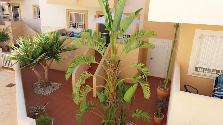 Garden apartment in La Azohia
